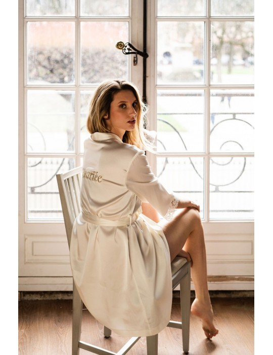 The bride's bathrobe